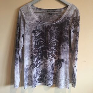Rock & Republic Fleur de Lis Angel Wings Top Large